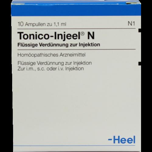 Verpackungsbild(Packshot) von TONICO Injeel N Ampullen