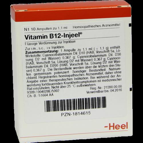 Verpackungsbild(Packshot) von VITAMIN B12 INJEEL Ampullen
