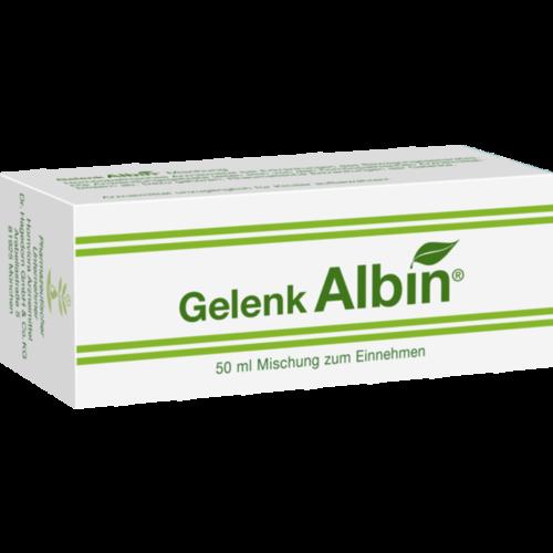 Verpackungsbild(Packshot) von GELENK ALBIN Tropfen zum Einnehmen