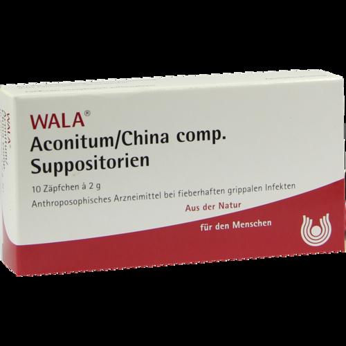 Verpackungsbild(Packshot) von ACONITUM/CHINA comp.Suppositorien