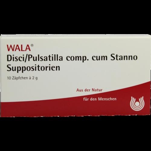 Verpackungsbild(Packshot) von DISCI/Pulsatilla comp.cum Stanno Suppositorien