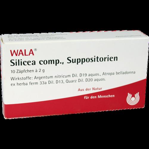 Verpackungsbild(Packshot) von SILICEA COMP.Suppositorien