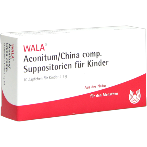Verpackungsbild(Packshot) von ACONITUM/CHINA comp.Kindersuppositorien