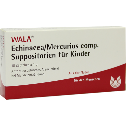 Verpackungsbild(Packshot) von ECHINACEA/MERCURIUS comp.Kindersuppositorien