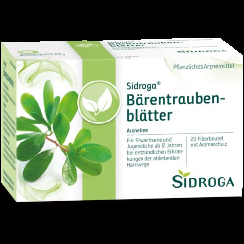Verpackungsbild(Packshot) von SIDROGA Bärentraubenblättertee Filterbeutel
