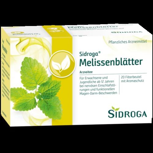 Verpackungsbild(Packshot) von SIDROGA Melissenblätter Tee Filterbeutel