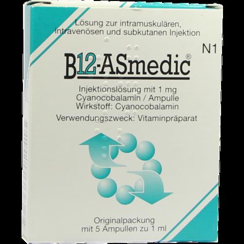 Verpackungsbild(Packshot) von B12 ASMEDIC Ampullen