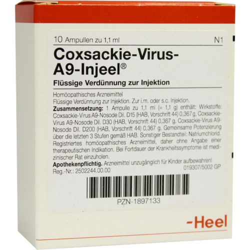 Verpackungsbild(Packshot) von COXSACKIE-Virus A9 Injeel Ampullen
