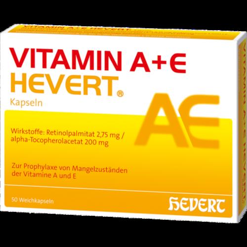 Verpackungsbild(Packshot) von VITAMIN A+E Hevert Kapseln