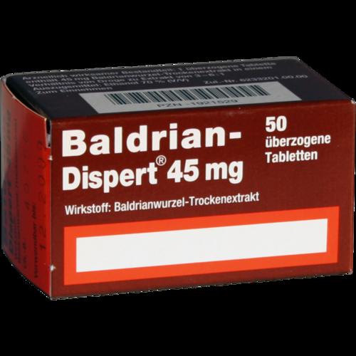 Verpackungsbild(Packshot) von BALDRIAN DISPERT 45 mg überzogene Tabletten