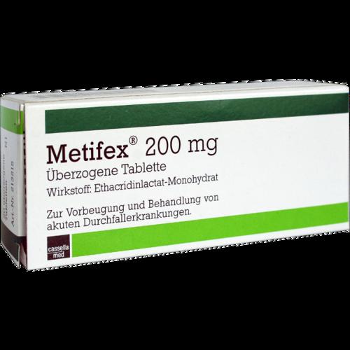 Verpackungsbild(Packshot) von METIFEX 200 mg überzogene Tabletten