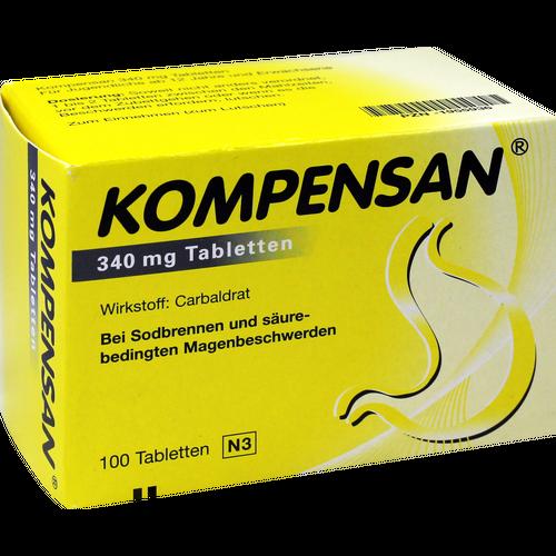 Verpackungsbild(Packshot) von KOMPENSAN Tabletten 340 mg