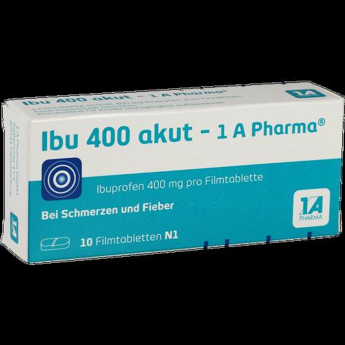 Verpackungsbild(Packshot) von IBU 400 akut-1A Pharma Filmtabletten