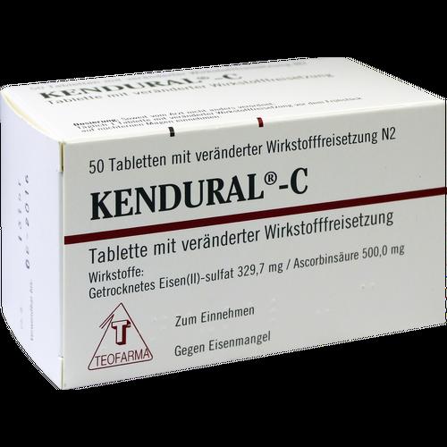 Verpackungsbild(Packshot) von KENDURAL C Retardtabletten