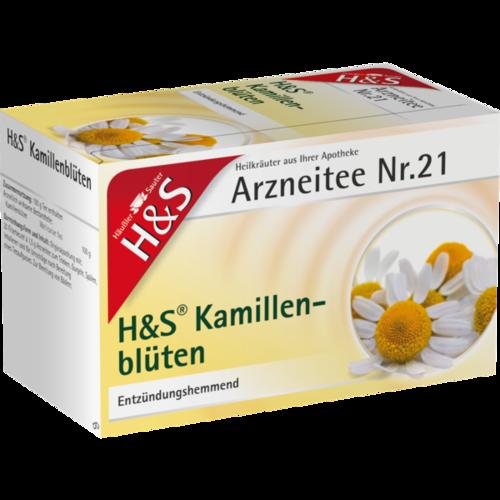 Verpackungsbild(Packshot) von H&S Kamillentee Filterbeutel