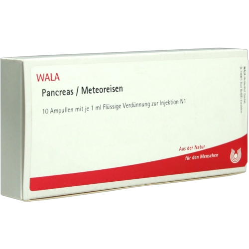 Verpackungsbild(Packshot) von PANCREAS/METEOREISEN Ampullen