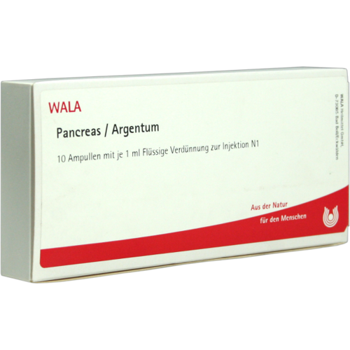 Verpackungsbild(Packshot) von PANCREAS/ARGENTUM Ampullen