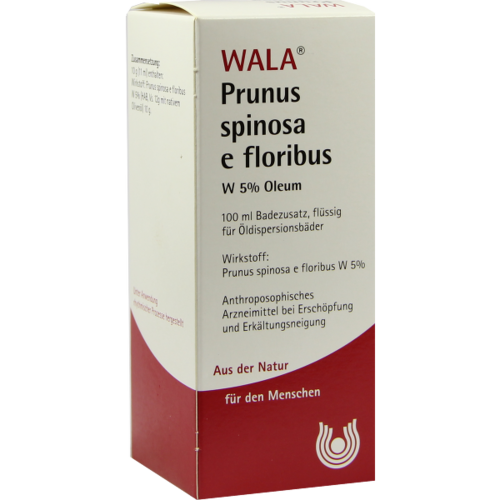 Verpackungsbild(Packshot) von PRUNUS SPINOSA E floribus W5% Oleum
