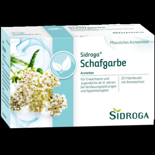 Verpackungsbild(Packshot) von SIDROGA Schafgarbe Tee Filterbeutel