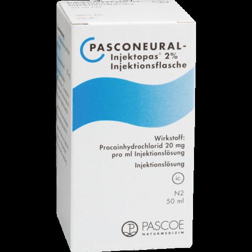 Verpackungsbild(Packshot) von PASCONEURAL Injektopas 2% Injektionsflaschen
