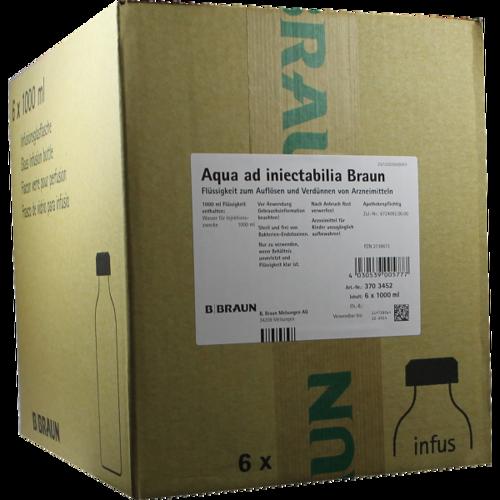 Verpackungsbild(Packshot) von AQUA AD injectabilia m.Combikappe Infusionslsg.