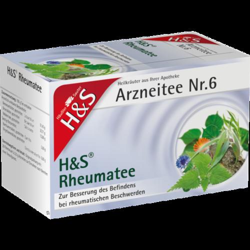 Verpackungsbild(Packshot) von H&S Rheumatee Filterbeutel