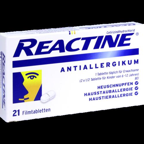 Verpackungsbild(Packshot) von REACTINE Filmtabletten