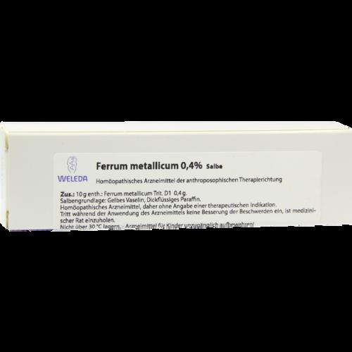 Verpackungsbild(Packshot) von FERRUM METALLICUM 0,4% Salbe