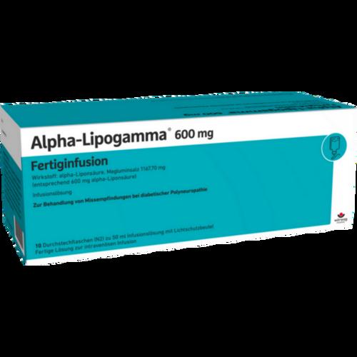 Verpackungsbild(Packshot) von ALPHA-LIPOGAMMA 600 mg Fertiginfusion Dsfl.