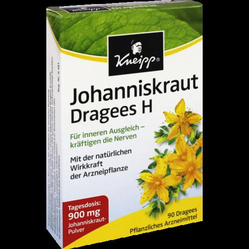 Verpackungsbild(Packshot) von KNEIPP Johanniskraut Dragees H