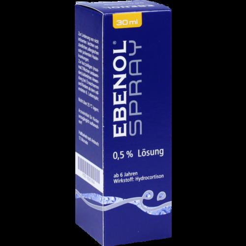 Verpackungsbild(Packshot) von EBENOL Spray 0,5% Lösung