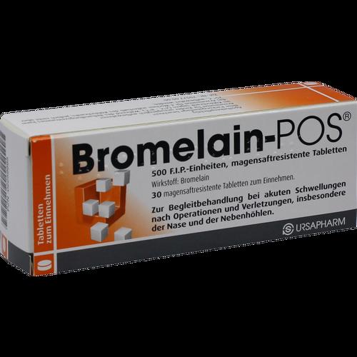 Verpackungsbild(Packshot) von BROMELAIN POS magensaftresistente Tabletten