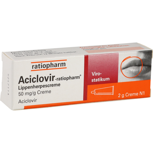 Verpackungsbild(Packshot) von ACICLOVIR-ratiopharm Lippenherpescreme