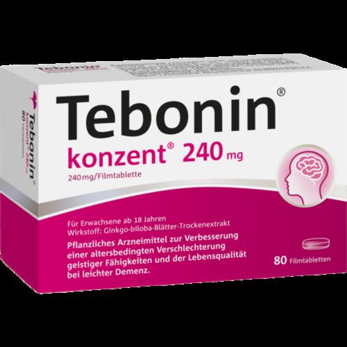 Verpackungsbild(Packshot) von TEBONIN konzent 240 mg Filmtabletten