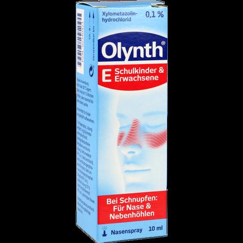 Verpackungsbild(Packshot) von OLYNTH 0,1% für Erwachsene Nasendosierspray
