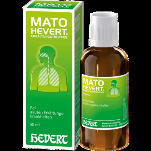 Verpackungsbild(Packshot) von MATO Hevert Erkältungstropfen