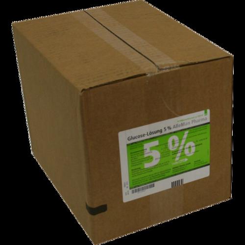 Verpackungsbild(Packshot) von GLUCOSE 5% DELTAMEDICA Infusionslösung Plastikfl.