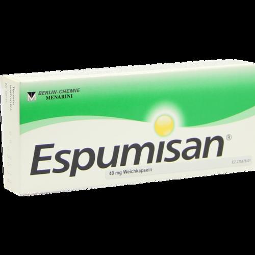 Verpackungsbild(Packshot) von ESPUMISAN 40 mg Weichkapseln