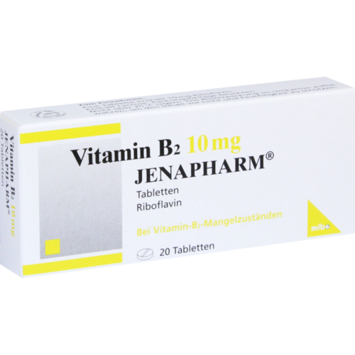 Verpackungsbild(Packshot) von VITAMIN B2 10 mg Jenapharm Tabletten