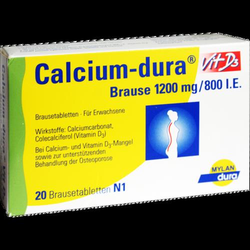 Verpackungsbild(Packshot) von CALCIUM DURA Vit D3 Brause 1200 mg/800 I.E.