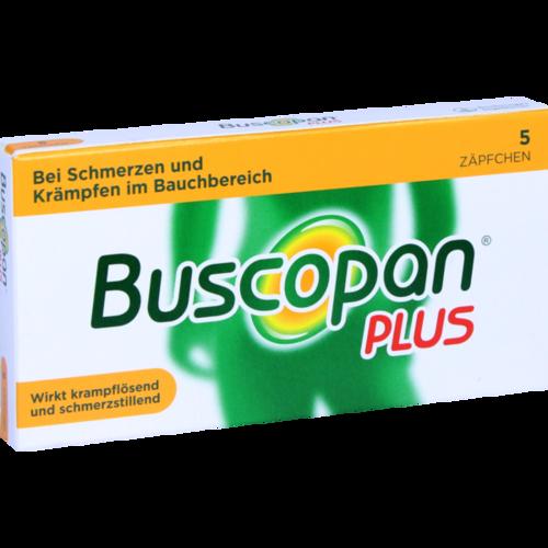 Verpackungsbild(Packshot) von BUSCOPAN plus Suppositorien