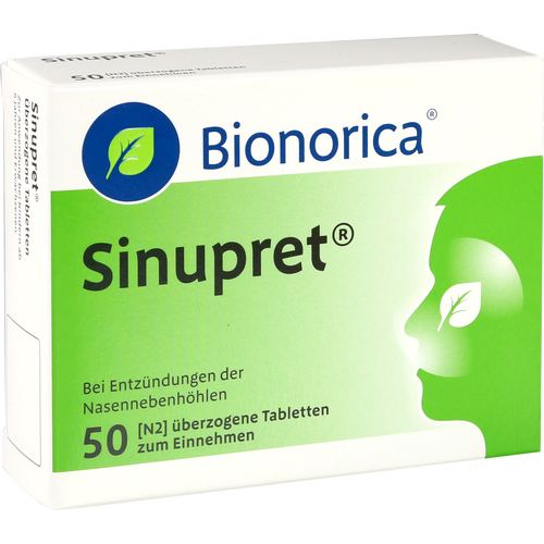 Verpackungsbild(Packshot) von SINUPRET überzogene Tabletten