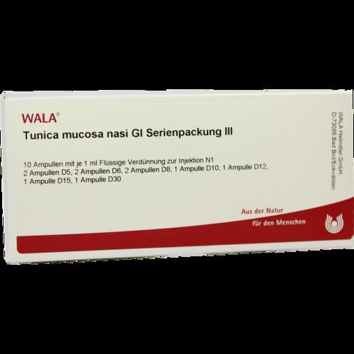 Verpackungsbild(Packshot) von TUNICA mucosa nasi GL Serienpackung 3 Ampullen