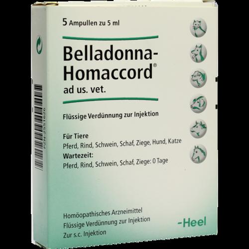 Verpackungsbild(Packshot) von BELLADONNA HOMACCORD ad us.vet.Ampullen