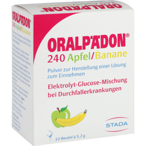 Verpackungsbild(Packshot) von ORALPÄDON 240 Apfel Banane Pulver