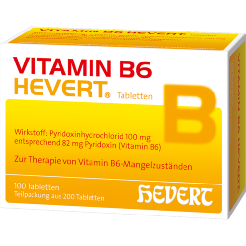 Verpackungsbild(Packshot) von VITAMIN B6 HEVERT Tabletten
