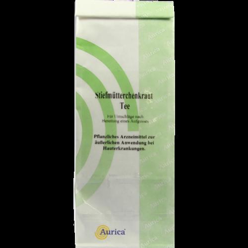Verpackungsbild(Packshot) von STIEFMÜTTERCHENKRAUT Tee Aurica