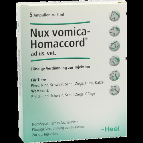 Verpackungsbild(Packshot) von NUX VOMICA HOMACCORD ad us.vet.Ampullen