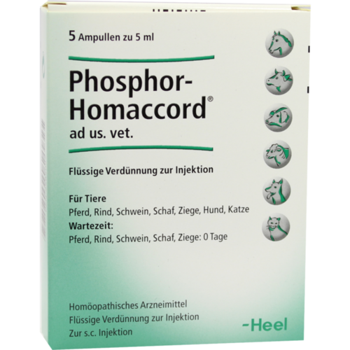 Verpackungsbild(Packshot) von PHOSPHOR HOMACCORD ad us.vet.Ampullen