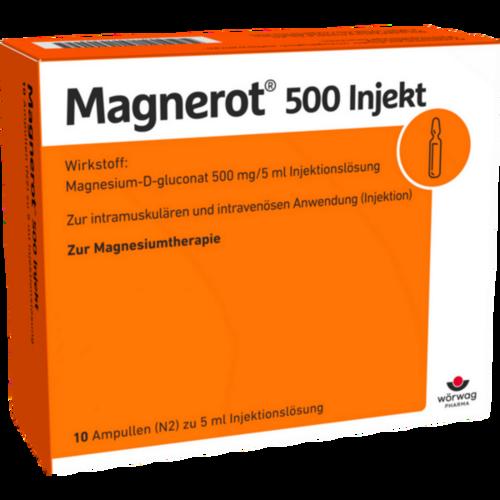 Verpackungsbild(Packshot) von MAGNEROT 500 Injekt Ampullen